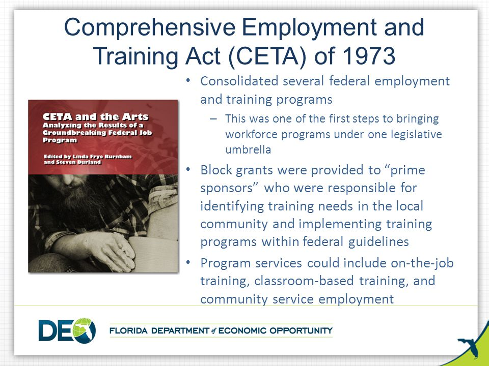 Comprehensive Employment and Training Act (CETA) of 1973