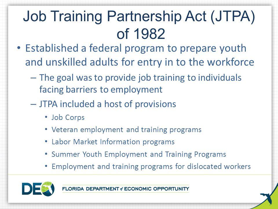 Job Training Partnership Act (JTPA) of 1982