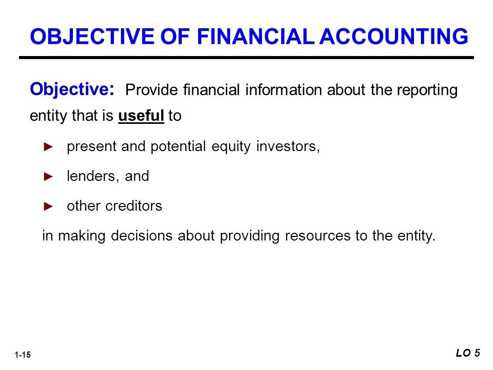 OBJECTIVE OF FINANCIAL ACCOUNTING