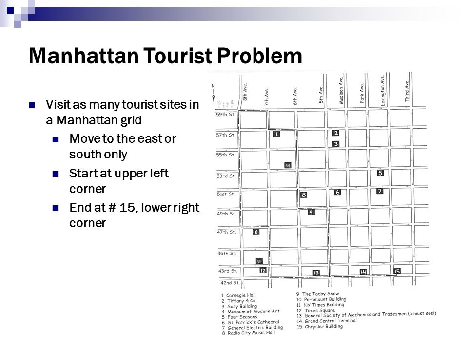 Manhattan Tourist Problem