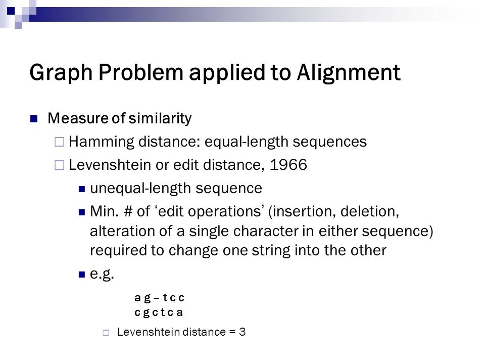 Graph Problem applied to Alignment