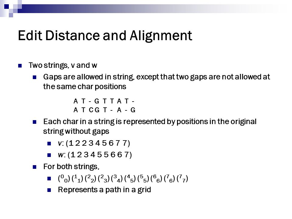 Edit Distance and Alignment