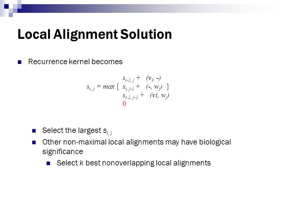 Local Alignment Solution