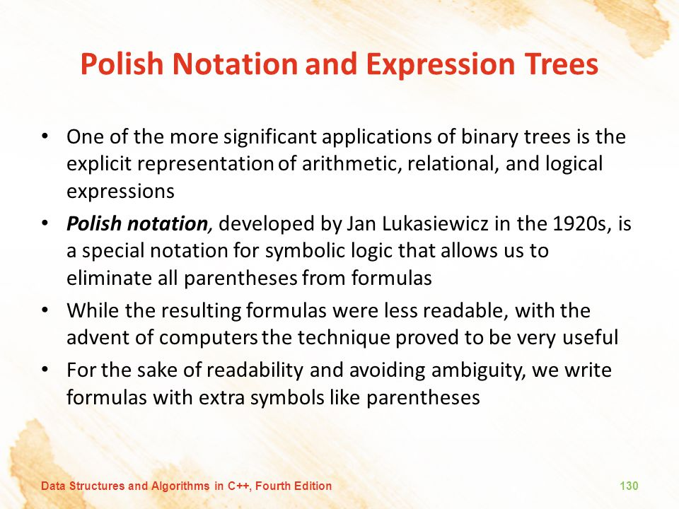 Polish Notation and Expression Trees