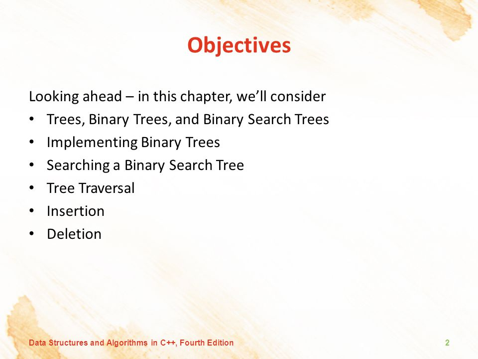 Objectives Looking ahead – in this chapter, we'll consider