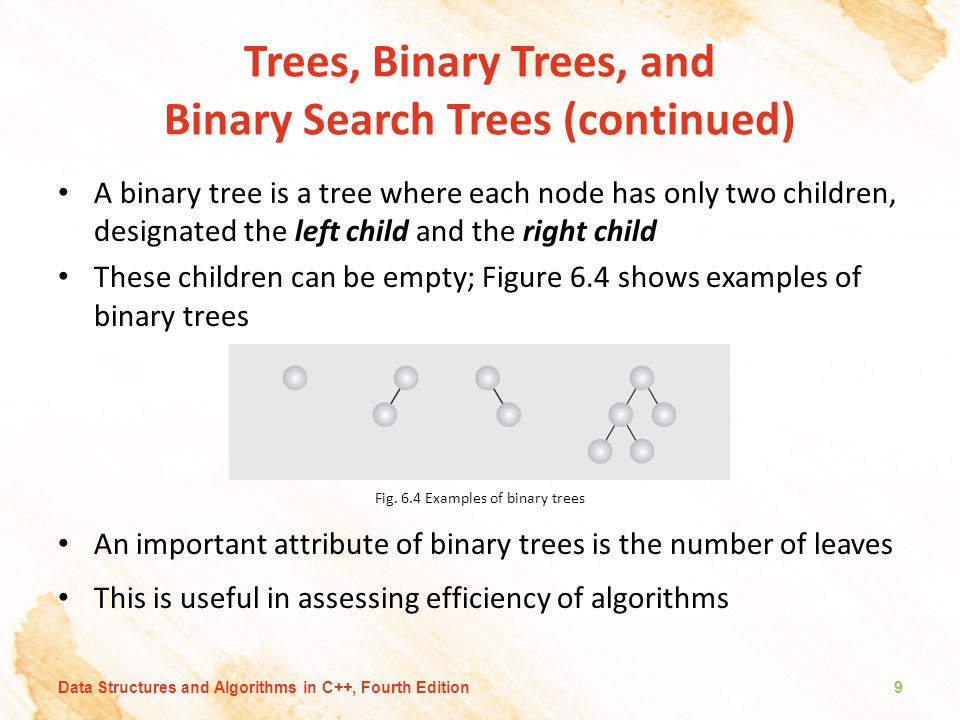 Trees, Binary Trees, and Binary Search Trees (continued)