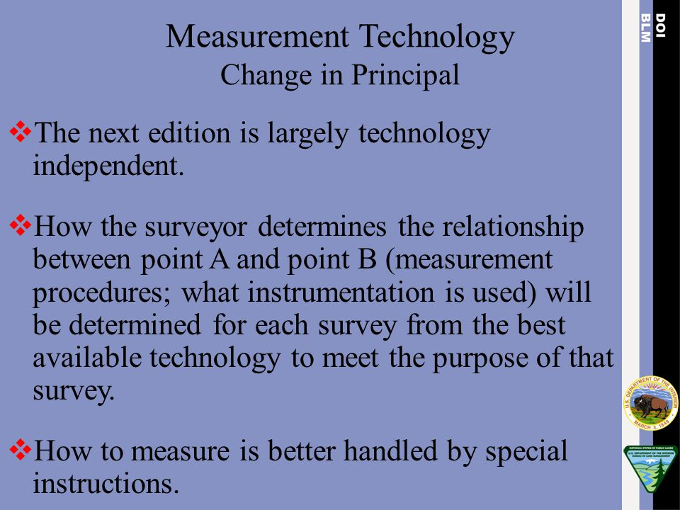 Measurement Technology Change in Principal