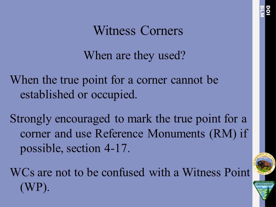 Witness Corners