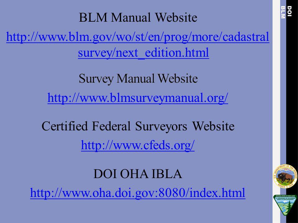 Certified Federal Surveyors Website