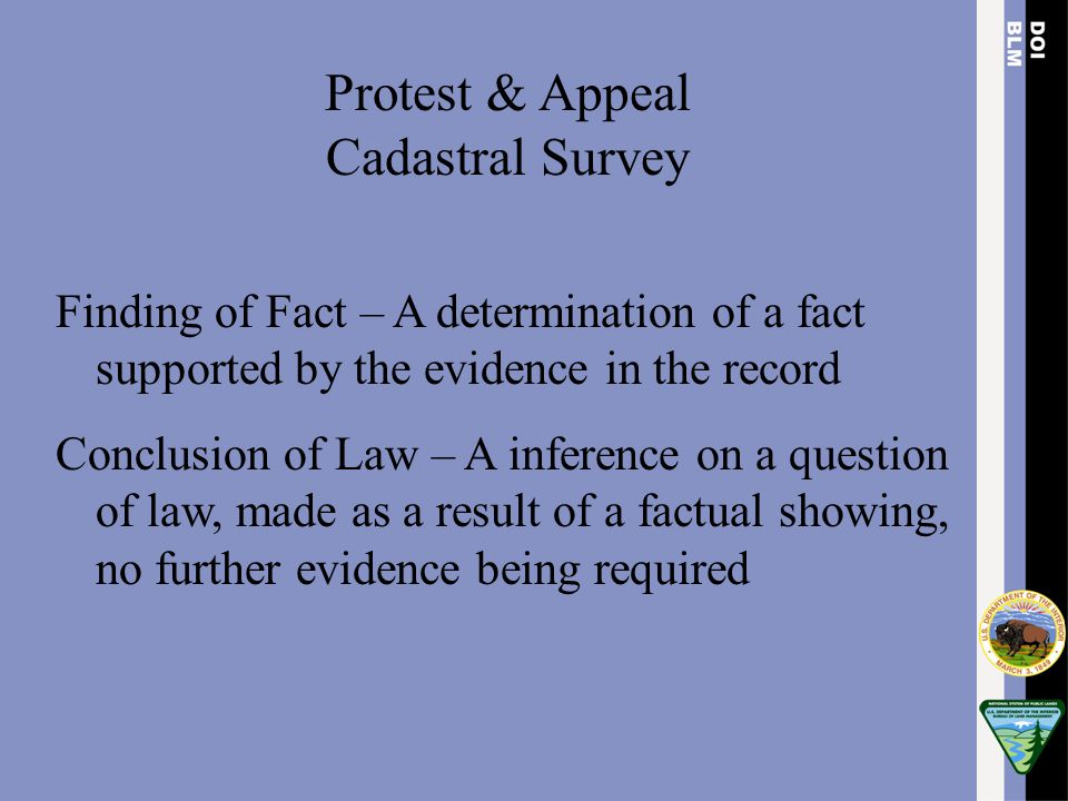 Protest & Appeal Cadastral Survey