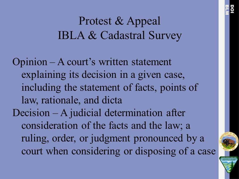 IBLA & Cadastral Survey