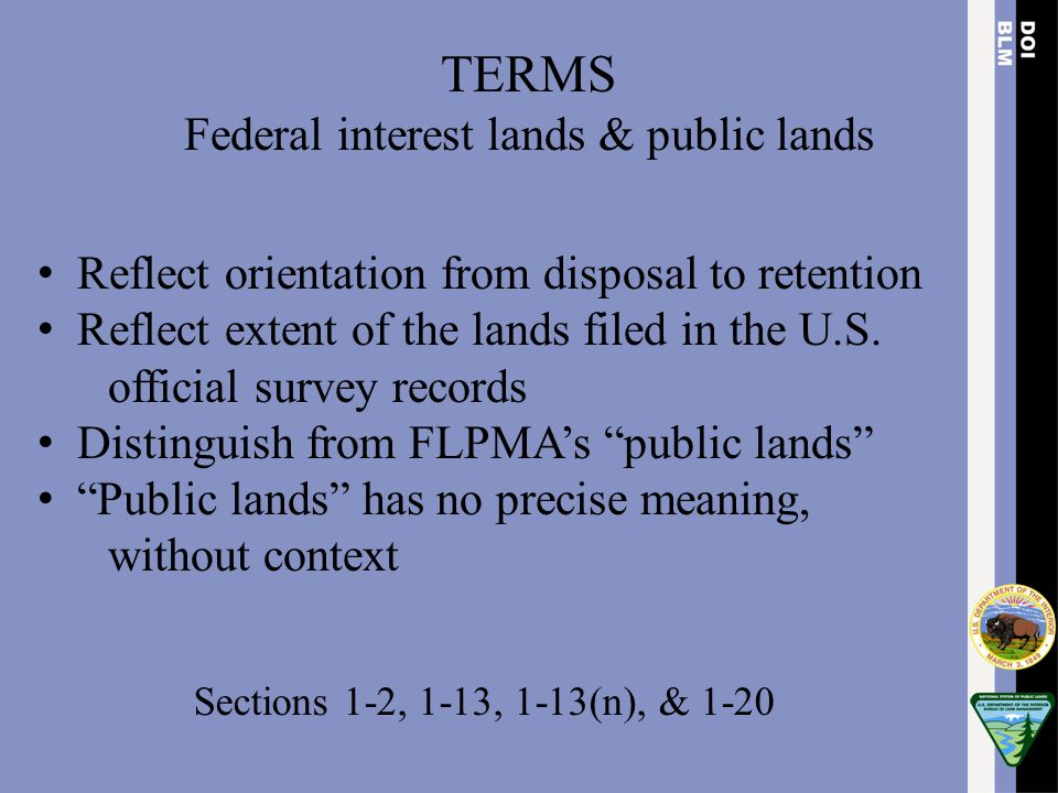 Federal interest lands & public lands