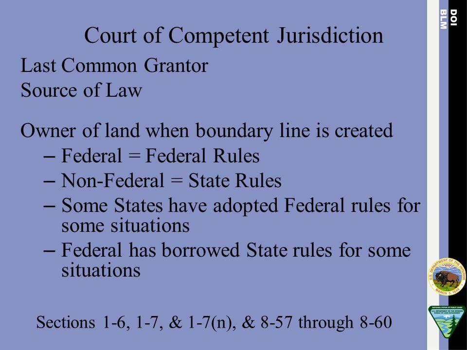 Court of Competent Jurisdiction