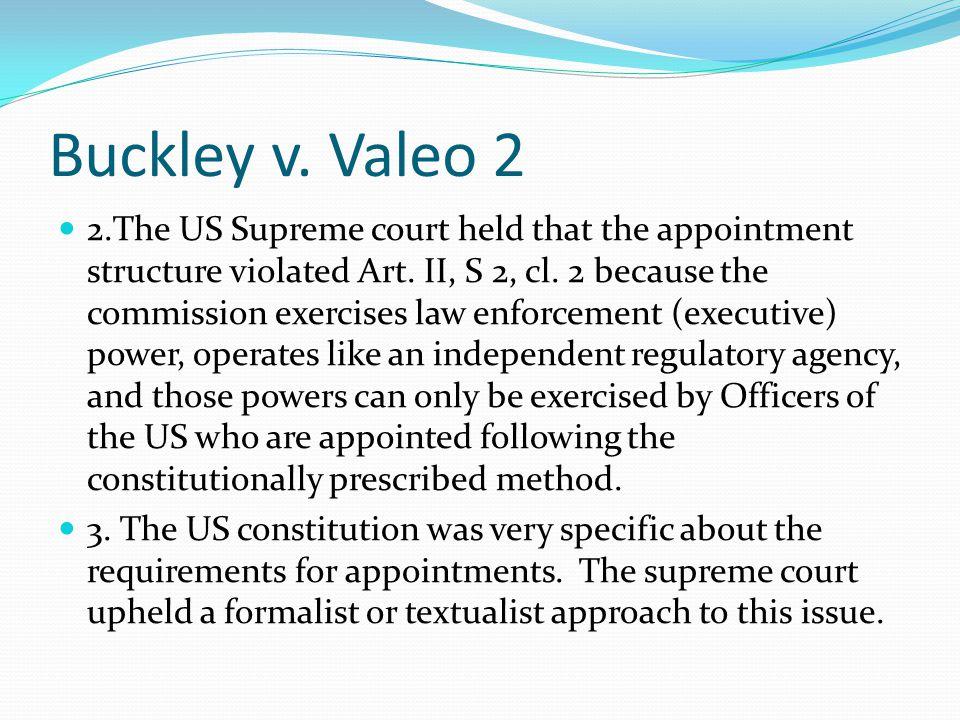 Buckley v. Valeo 2