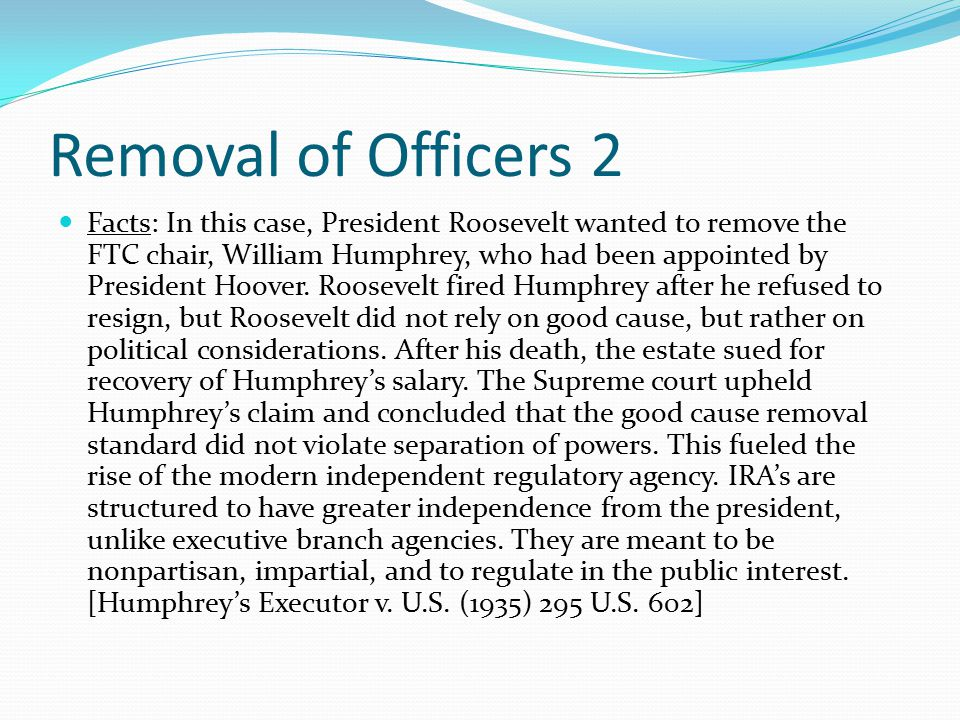 Removal of Officers 2
