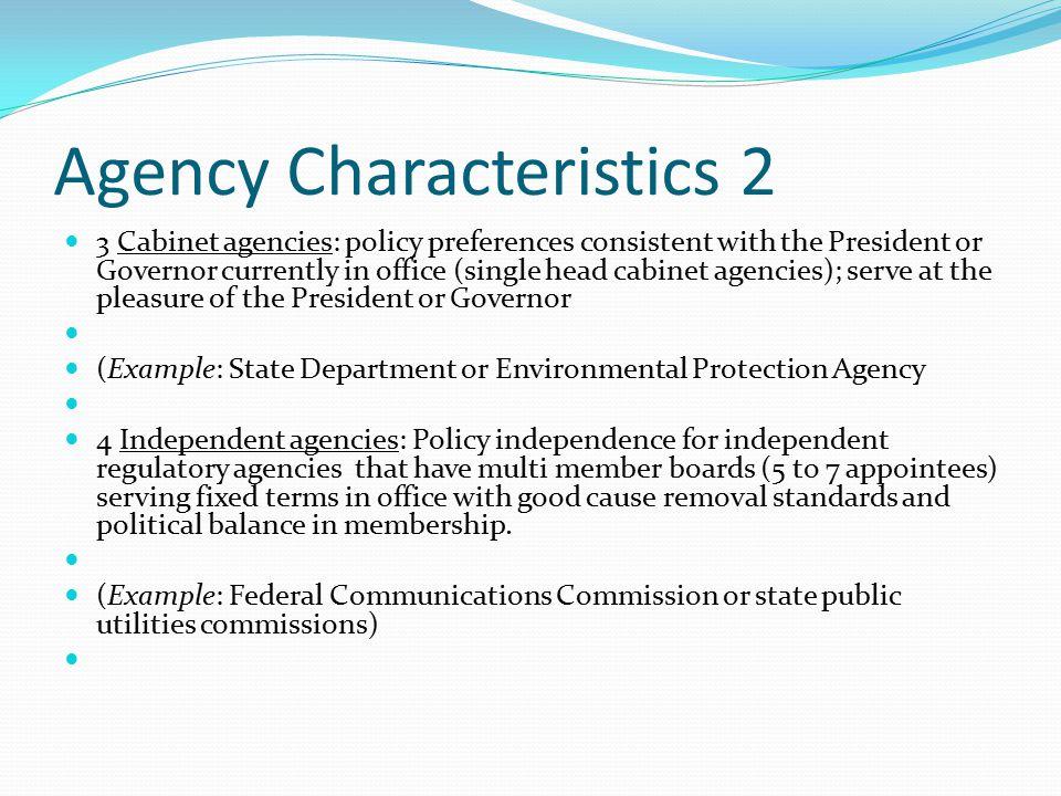 Agency Characteristics 2