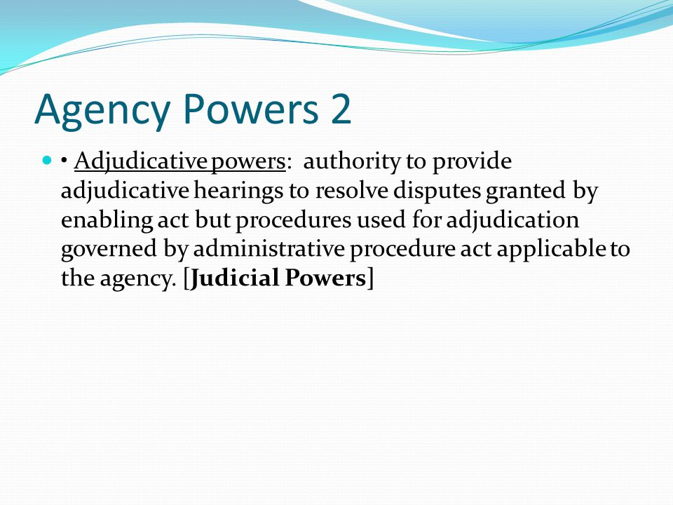 Agency Powers 2