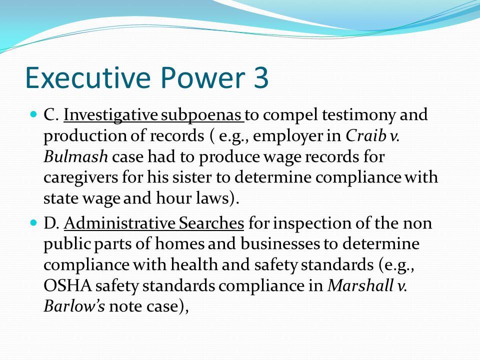 Executive Power 3