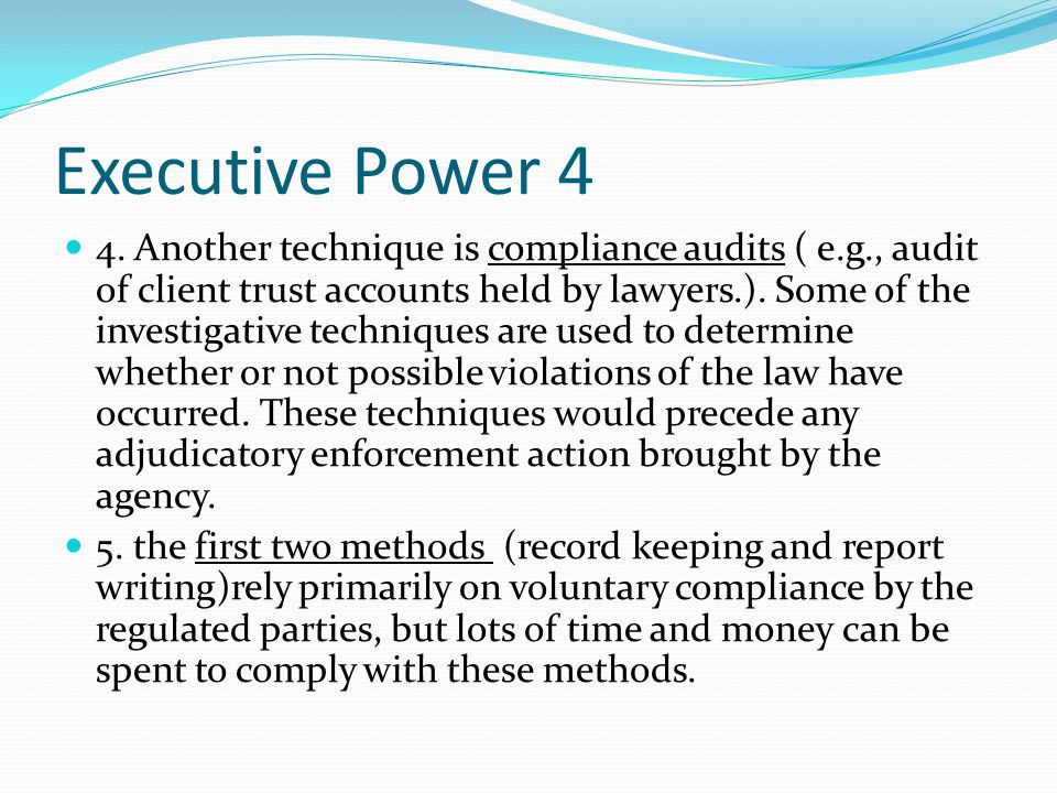 Executive Power 4