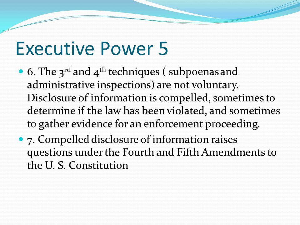 Executive Power 5