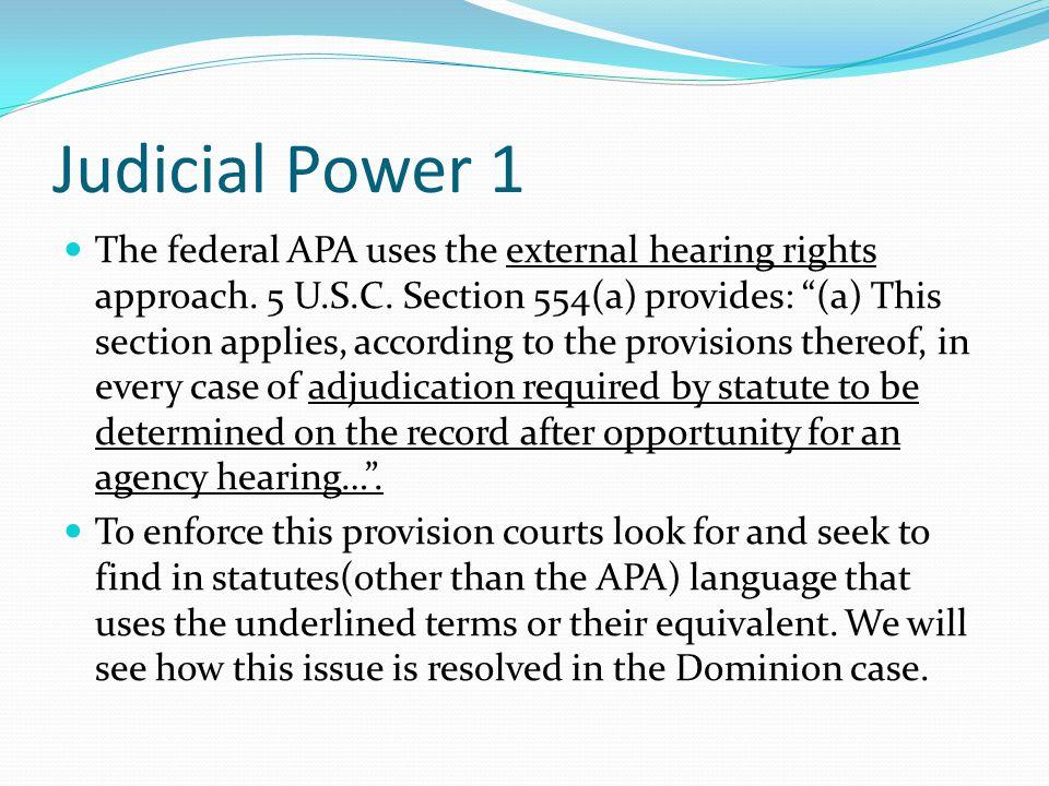 Judicial Power 1