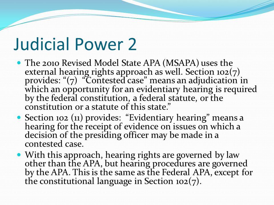 Judicial Power 2