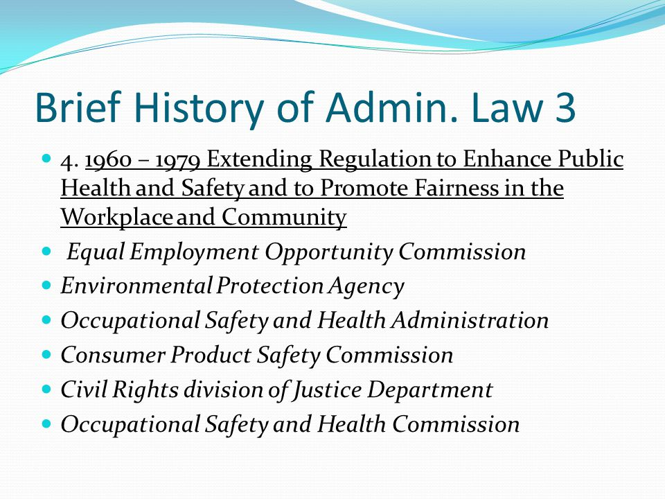 Brief History of Admin. Law 3