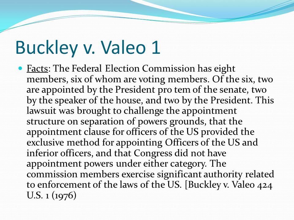 Buckley v. Valeo 1
