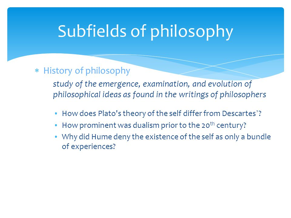Subfields of philosophy