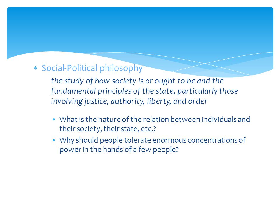 Social-Political philosophy