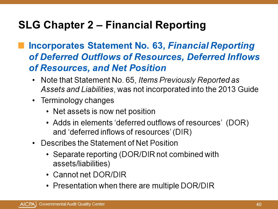 SLG Chapter 2 – Financial Reporting