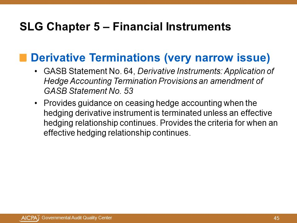 SLG Chapter 5 – Financial Instruments