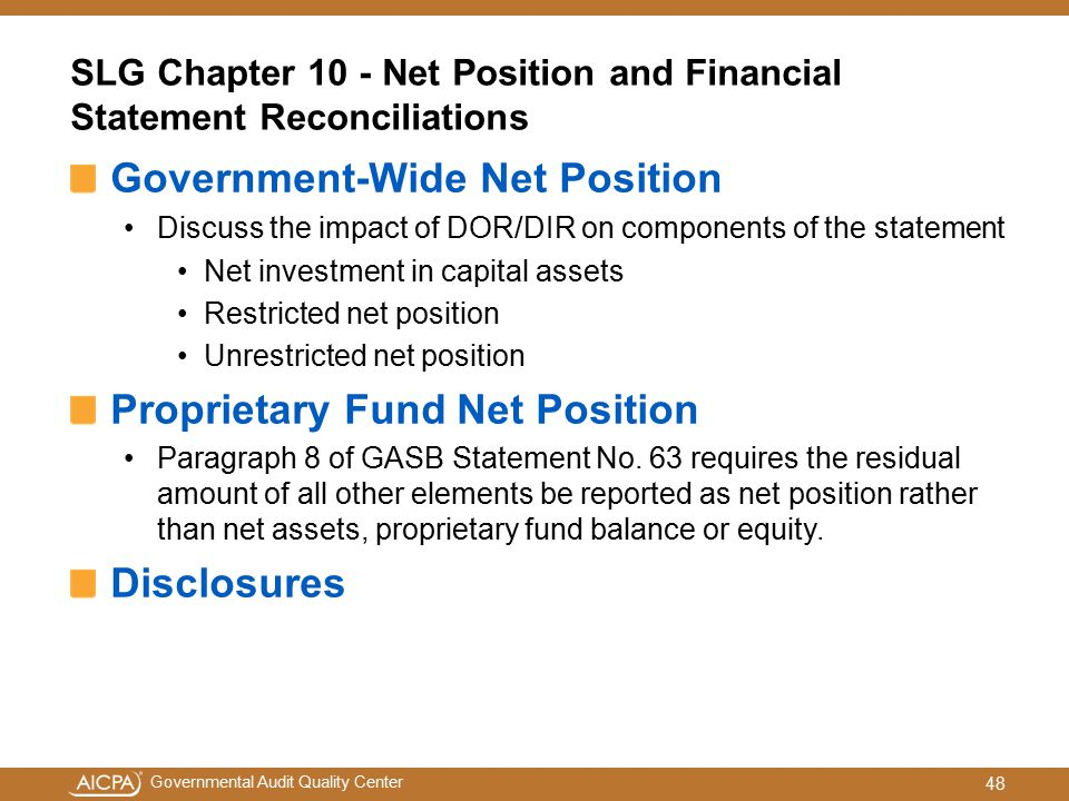 SLG Chapter 10 - Net Position and Financial Statement Reconciliations