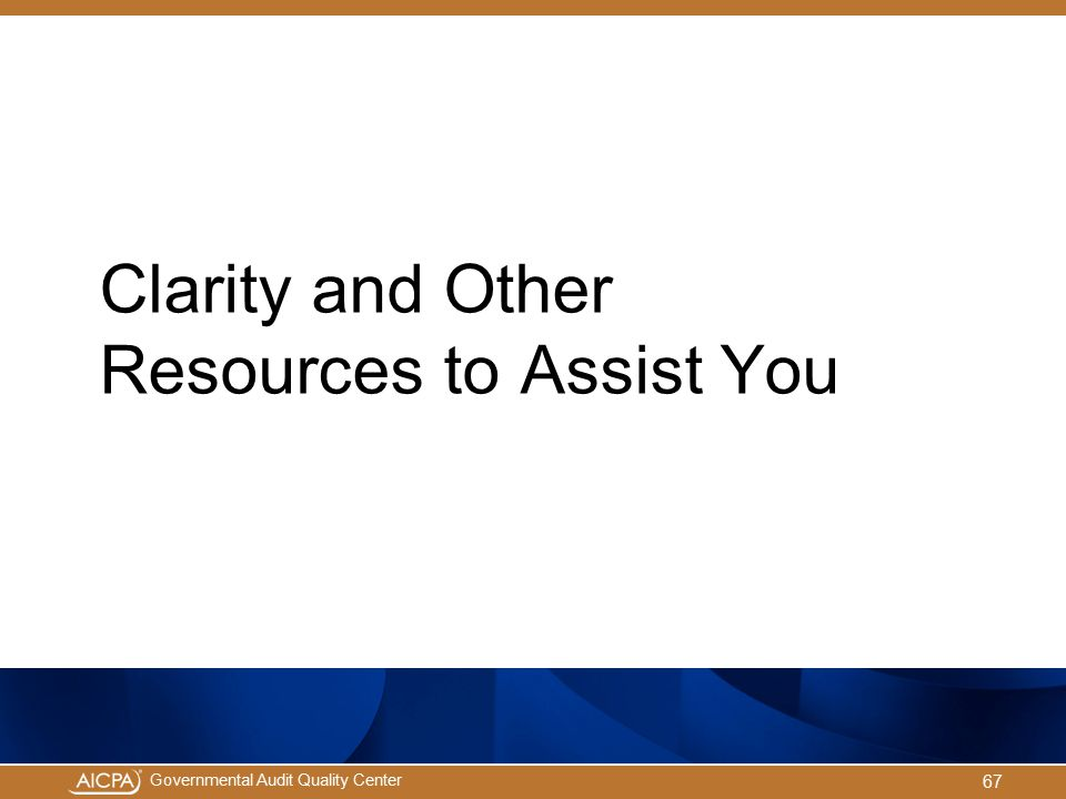 Clarity and Other Resources to Assist You