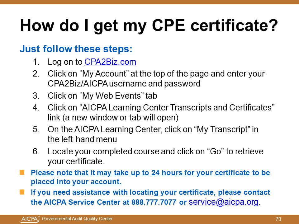 How do I get my CPE certificate