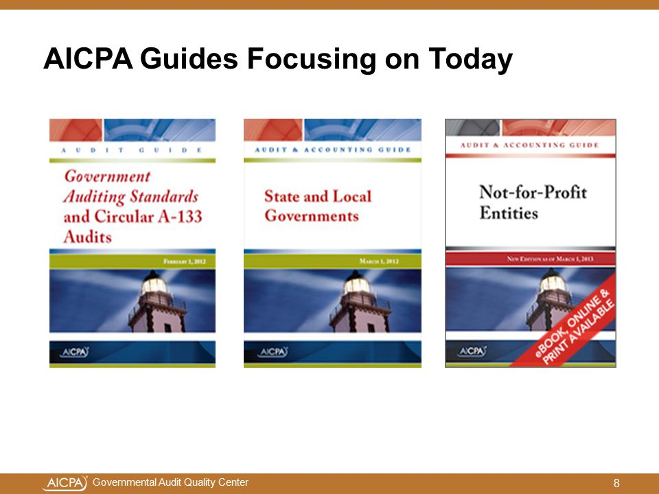 AICPA Guides Focusing on Today