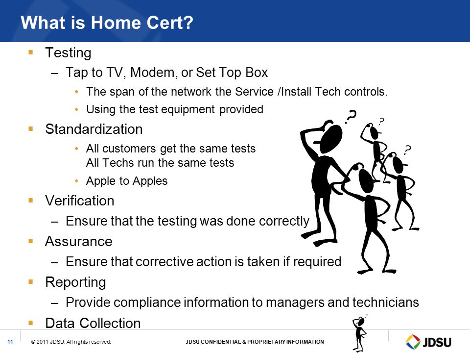 What is Home Cert Testing Standardization Verification Assurance
