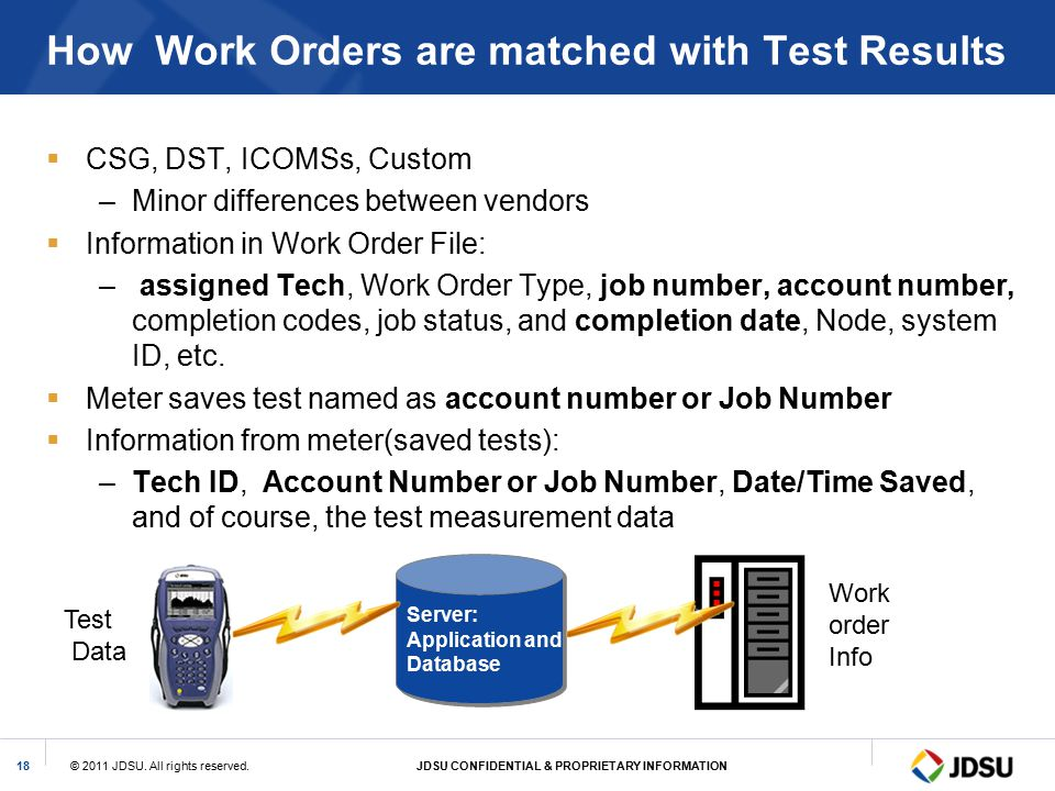 How Work Orders are matched with Test Results