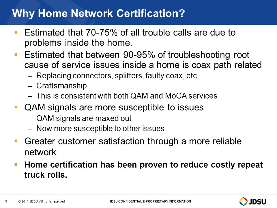 Why Home Network Certification