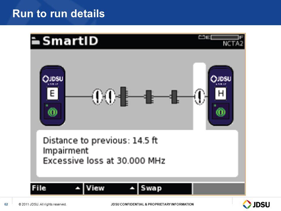 Run to run details