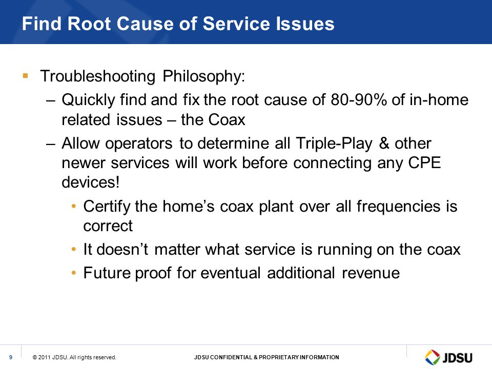 Find Root Cause of Service Issues