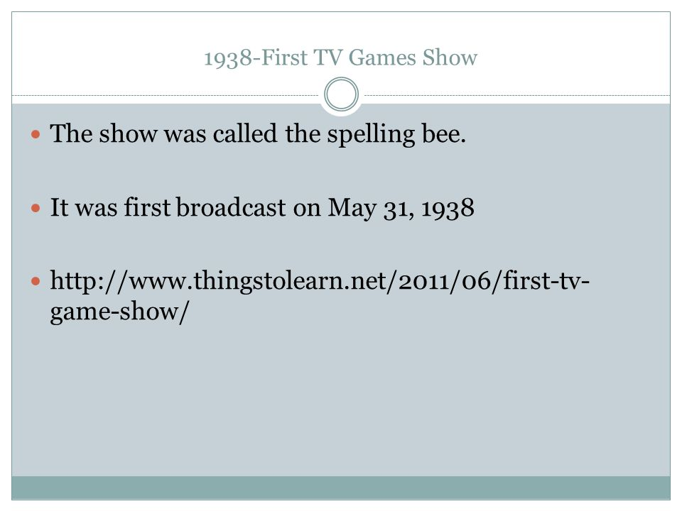 The show was called the spelling bee.