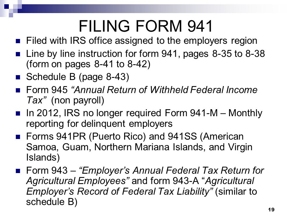 Depositing And Reporting Withheld Taxes Ppt Video Online Download