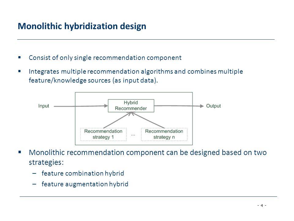 Monolithic hybridization design