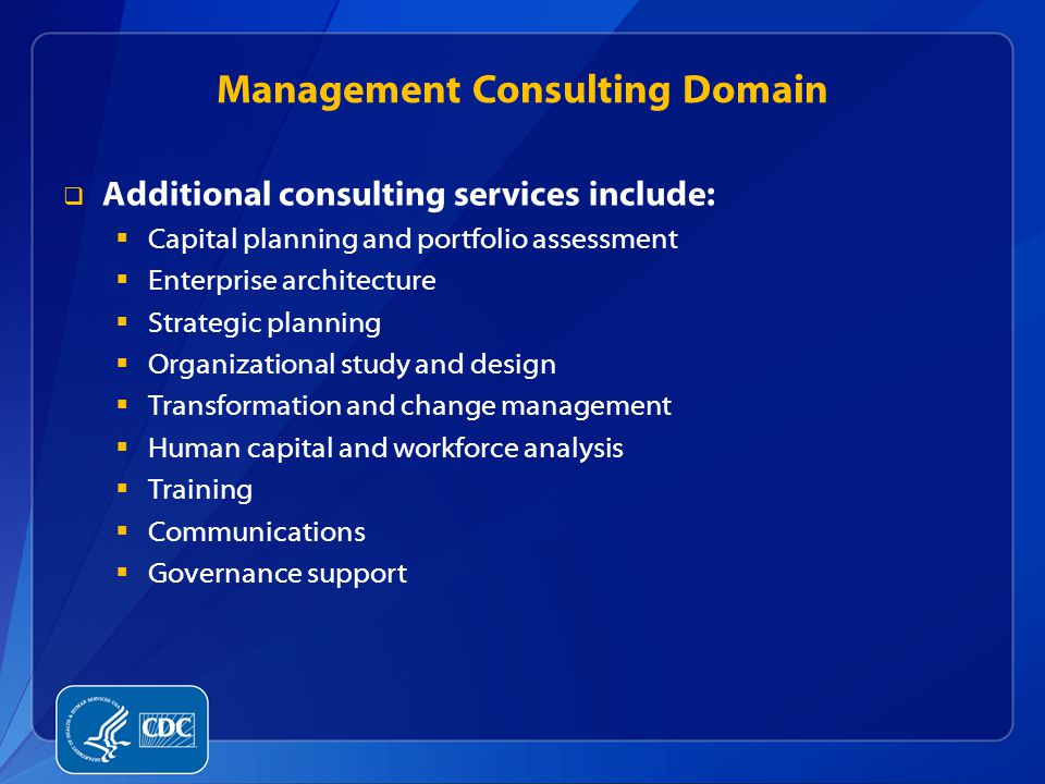 Management Consulting Domain