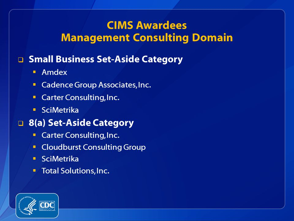 CIMS Awardees Management Consulting Domain