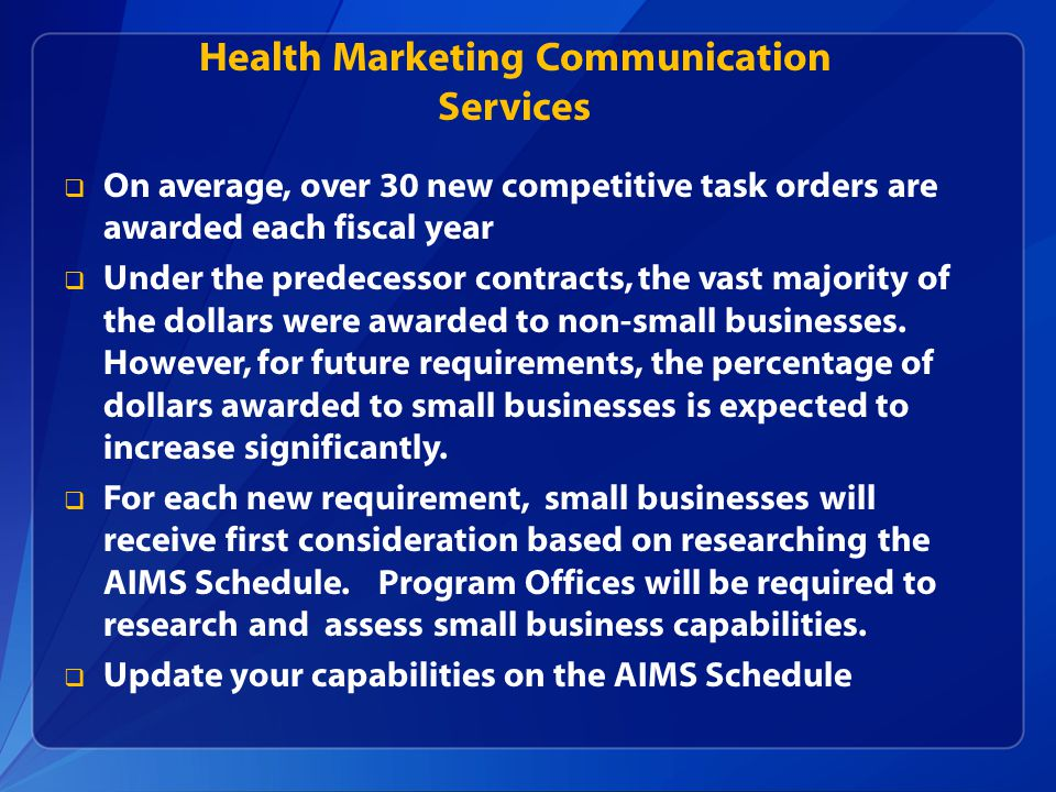 Health Marketing Communication Services