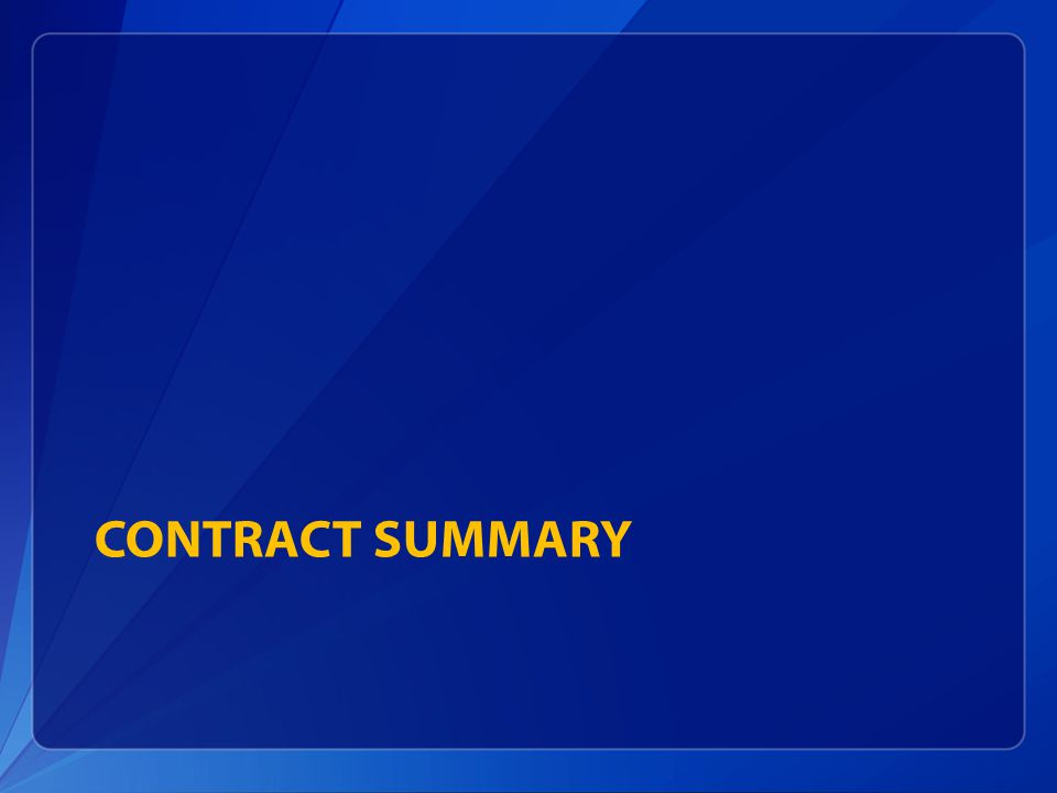 Contract summary