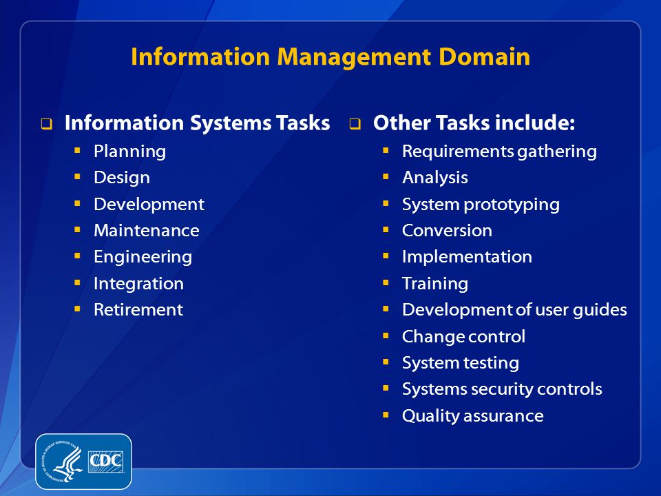 Information Management Domain