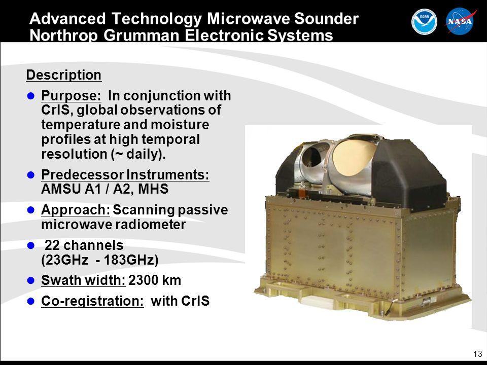 Advanced Technology Microwave Sounder Northrop Grumman Electronic Systems